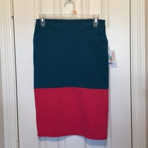 Lularoe Cassie size small teal & pink NWT